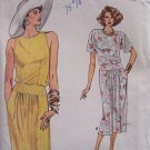 Vintage 80s Vogue 9607 Top Straight Skirt Pattern Uncut Size 14-18 Two Piece Dress