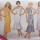 Vintage 80s Butterick 3878 Sleeveless Straight Dress Flounce Bottom Pattern Uncut Size 12