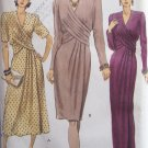 Vogue 7939 Draped Front Evening Dress Pattern Tapered or Flared Skirt Uncut Size 12-16