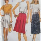 Vogue 8066 Pleated A-Line Skirt Pattern Short or Below Knee Length Uncut Size 12-16