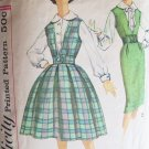 Vintage Simplicity 3079 Blouse Jumper Dress Full or Straight Skirt Pattern Size 14