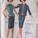 Vintage 60s McCall's 5936 Dress Suit Box Jacket Blouse Slim Skirt Pattern Size 12