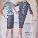 60's McCall's 5936 Box Jacket Slim Skirt Sleeveless Blouse Suit Dress Pattern Size 14