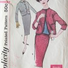 Vintage 1958 Simplicity 2637 Slim Skirt Box Jacket Suit Dress Pattern Size 12