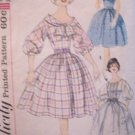 Vintage 60s Simplicity 3431 Inverted Pleat Full Skirt Dress Pattern Size 12