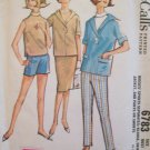 Vintage 60s McCall's 6783 Turtleneck Blouse Slim Skirt Pullover Jacket Pattern Size 14