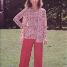 Vintage 70s Butterick 5779 Tank Top Cardigan Neck Jacket Straight Pants Pattern Uncut Size 12