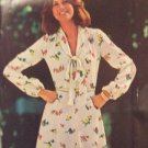 Vintage 70s Butterick 5766 Flared Skirt V-Neck Dress Pattern Long Sleeve Uncut Size12 See and Sew
