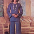 Vintage 70s Butterick 5762 Tunic Top Straight Leg Pants Pattern Uncut Size 12 See and Sew