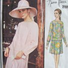 Vintage 60's Vogue 2191 Nina Ricci Paris Original Two Piece Dress Pattern Uncut With Label