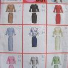 Butterick 6870 Long Sleeve Princess Seam Top Straight Evening or Short Skirt Pattern Uncut 14-18