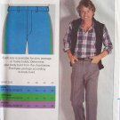 Vintage Butterick 3318 Men's Straight Leg Dress Pants Sewing Pattern Uncut Size 34