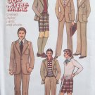 Vintage 70s Simplicity 7946 Men's Pants Shorts Unlined Jacket Suit Pattern Uncut Size 40