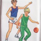 Vintage 70s Butterick 3115 Boy's Athletic Tank Top Shorts and Pants Pattern Uncut Size 7