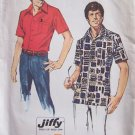 Vintage 1974 Simplicity 6368 Short Sleeve Front Button Summer Shirt Pattern Uncut Size 38-40