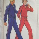 Vintage 70s Butterick 5200 Men's Athletic Jogging Suit Uncut Pattern Zip Front Jacket Pants