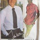 Vintage 70s McCall's 5741 John Weitz Men's Dress Shirt Sewing Pattern Uncut Size 38-42