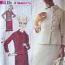 Vintage 60s Simplicity 6180 Double Breasted Box Jacket Skirt Suit Dress Patten Size 14 Bust 34