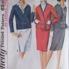 Vintage 60s Simplicity 5595 Suit Dress Dickey and Cuffs Pattern Size 14 Jacket and Skirt