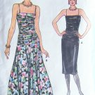 Vintage 80s Vogue 9323 Dropped Waist Shirred Bodice Evening Dress Pattern Uncut Size 12-16