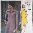 Vintage Vogue 2343 Nina Ricci Paris Original A-Line Shawl Collar Dress Pattern Size 12 Bust 34