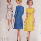 Vintage 60s Butterick 4076 A-Line Dress Pattern Uncut Size 12 Bust 32 Sleeveless or Short