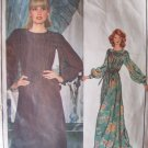 Vintage 70's Vogue 1122 Emanuel Ungaro Paris Original Evening Maxi Dress Pattern Size 14 Bust 36