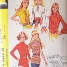 Vintage 70s McCall's 2944 Back Zip Blouse Pattern Uncut Size 12 Bust 34 Long or Sleeveless