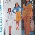 Vintage 70s McCall's 4985 Yoked Jacket Front Pleat Skirt Pants Pattern Marlo's Corner Uncut
