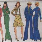 Vintage 70s Simplicity 7093 Shirt Jacket Curve Seam Pants Skirt Pattern Uncut Size 12 Bust 34