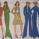 Vintage Simplicity 7093 Pants Appliqué Shirt Jacket Skirt and Pants Pattern Uncut Size 14