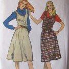 Retro 80s Butterick 3386 Flared Jumper Dress Pattern Scoop Neck Uncut Size 12 Bust 34