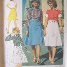Vintage 70s Simplicity 7331 Button Front Shirt Wrap Skirt Pattern Uncut Size 14 Bust 36