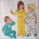 Vintage 70s Simplicity 7067 Toddlers Pajama Pattern Appliqué Bear Transfer Footed Pants Uncut