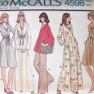 Vintage McCall's 4598 70's Flared Skirt Dress or Tunic Top and Pants Pattern Uncut Size 12