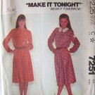 Vintage 1980 McCall's 7251 Pullover Flared Skirt Long Sleeve Dress Pattern Uncut Size 12 Bust 34