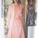 Vintage 70s Simplicity 8020 Back Wrap Halter Dress Shirt-Jacket Pattern Uncut Size 12 Bust 34