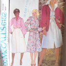 Vintage 70's McCall's 6152 Button Front Shirtdress or Shirt Pattern Uncut Size 12 Bust 34