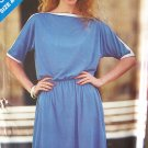 Vintage 80s Butterick 3273 Kimono Sleeve Dress Pattern Uncut Size 8-12 See and Sew