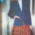 Vintage 80's Butterick 3285 Flared Skirt and Notched Collar Jacket Pattern Uncut Size 8-12