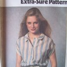 Vintage 70s Simplicity 9020 Kimono Sleeve Button Front Dress Pattern Uncut Size 8-12