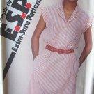 Vintage 80's Simplicity 9428 Notched Collar Slim Dress Pattern Button Front Uncut Size 10-14