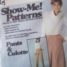 Vintage 70s McCall's 5758 Straight Front Pants and Culottes Show Me Pattern Uncut Size 16-20