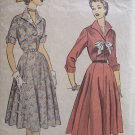 Vintage 40's Advance 6121 Wing Collar Shirtwaist Dress Pattern Size 16 Bust 34