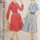 Vintage 50's Simplicity 2926 Shirtwaist Dress Pattern Front Button Size 16.5 Bust 37