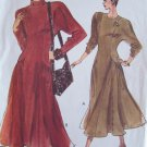 Very Easy Vogue 7911 Princess Seam Flared Skirt Dress Pattern Long Sleeve Uncut Size 18-22