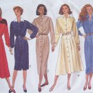 Butterick 6904 Classics Front Button Dress Pattern Straight Flared Skirt Long Sleeve Uncut Size18-22