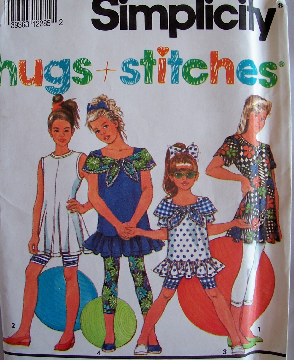 Simplicity 7728 Girl�s Leggings or Shorts and Summer Top Pattern Uncut Size 12-14