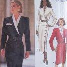 Butterick 6512 Asymmetrical Side Button Dress Pattern Uncut Size 18-22 Straight Skirt Long Sleeve