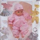 McCall's 8554 Crafts Doll Sleeper Dress Pinafore Bonnet Pattern Uncut Three Sizes